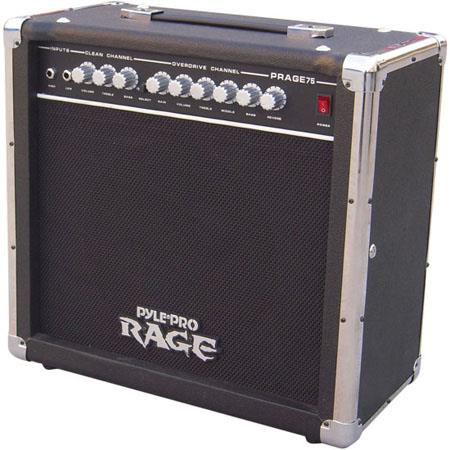 Pyle Pro PRAGE W Rage Series Electric Guitar Amplifier Overdrive Hz kHz Frequency Response 83 - 560