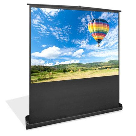 PyleDiagonal Universal Floor Standing Portable Roll Down Pull Down Projector Screen Matte 45 - 635