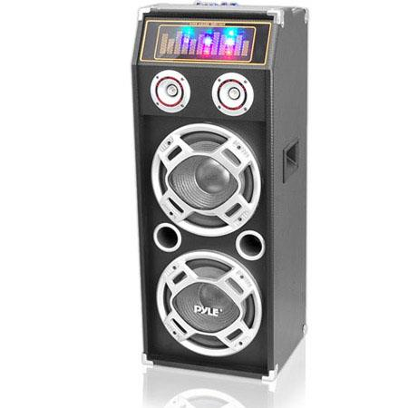 Pyle Watts Disco Jam Powered Two Way Bluetooth Speaker System Flashing DJ Lights 97 - 123