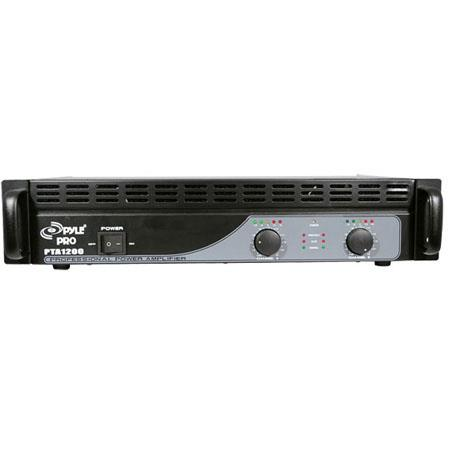 Pyle PTA W Professional Power Amplifier Hz kHz Frequency Response 72 - 675