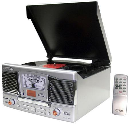 Pyle Retro Style Turntable CDRadioUSBSDMPWMA and Vinyl to MP Encoding Silver 42 - 400