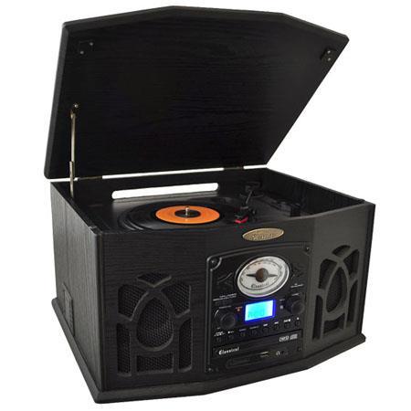 Pyle PTCDSUI Retro Vintage Turntable System Built Speakers  274 - 166