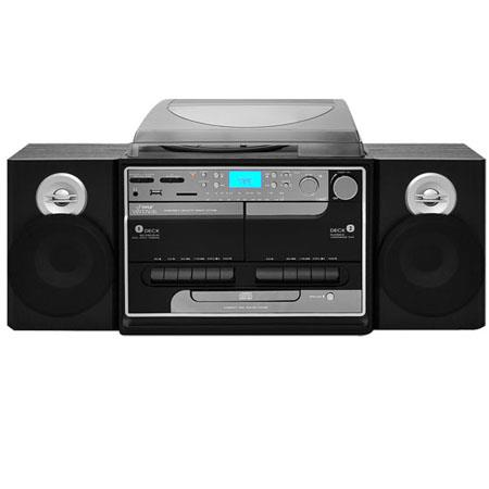 Pyle PTTCSM Turntable BoomboMultimedia System AMFM Radio CDs Cassettes MPs USBSD Memory Ports Vinyl  99 - 36