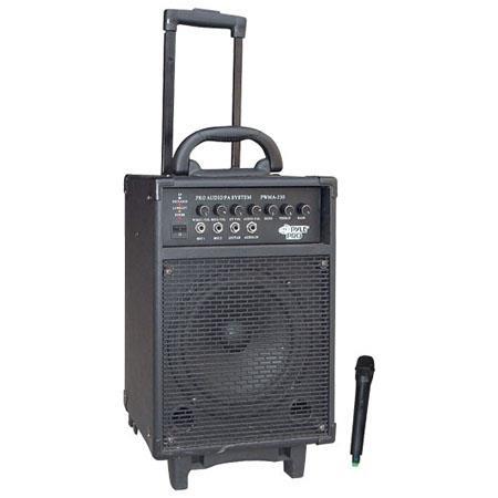 Pyle watt VHF Wireless Battery Powered PA System 92 - 162