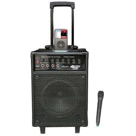 Pyle watt VHF Wireless Portable PA System Microphone i Pod Dock and Bluetooth 255 - 18