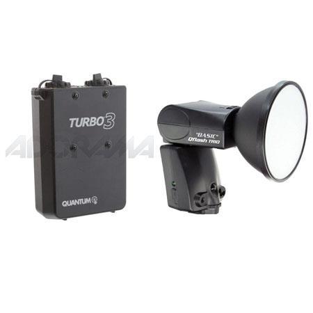Quantum Trio Basic QFBC Flash Canon Built TTL Camera Adapter Bundle Quantum Turbo Rechargeable Batte 152 - 699