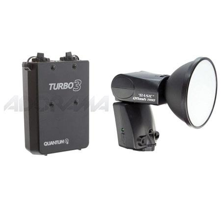 Quantum Trio Basic QFBN Flash Nikon TTL without Built Radio Bundle Quantum Turbo Rechargeable Batter 141 - 623