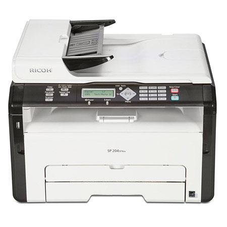 Ricoh SP SFNw BW Multifunction Laser Printer ppm BWdpi Sheets Paper Capacity USB EthernetWi Fi Print 296 - 759