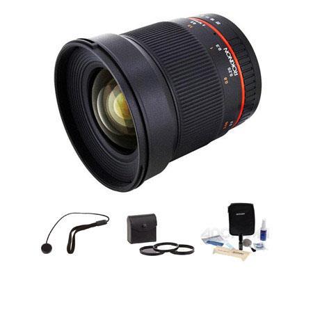 Rokinon F ED AS UMC CS Lens Canon M Mount Cameras Bundle Pro Optic Digital Essentials Filter Kit Fla 112 - 186
