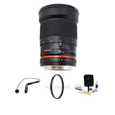 Rokinon f Manual Focus Lens Samsung NX Camera Bundle Pro Optic Pro Digital Multi Coated UV Filter Fl 381 - 6