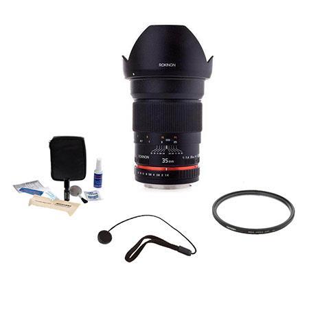 Rokinon f Manual Focus Lens Sony DSLR Cameras Bundle Pro Optic Pro Digital Multi Coated UV Filter Fl 86 - 594