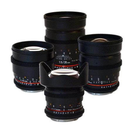 Rokinon Cine Lens Kit For Canon EF Mount T T T T  13 - 183