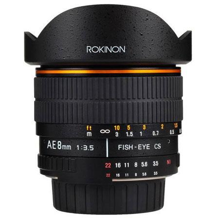 Rokinon Ultra Wide Angle f Fisheye Lens Nikon Focus Confirm Chip 96 - 445
