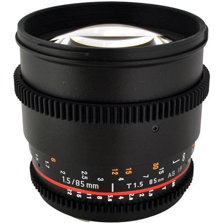 Rokinon t Aspherical Lens Canon De Clicked Aperture and Follow Focus Fixed Lens 83 - 524