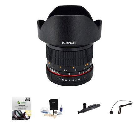 Rokinon f IF ED MC Super Wide Angle Lens Nikon Bundle New Leaf Year Drops Spills Warranty Lenspen Le 54 - 573