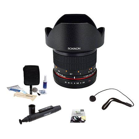 Rokinon f IF ED MC Super Wide Angle Lens Olympus Bundle New Leaf Year Drops Spills Warranty Lenspen  158 - 331