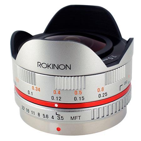 Rokinon f UMC Ultra Wide Angle Fisheye CS Lens Micro Silver 136 - 189