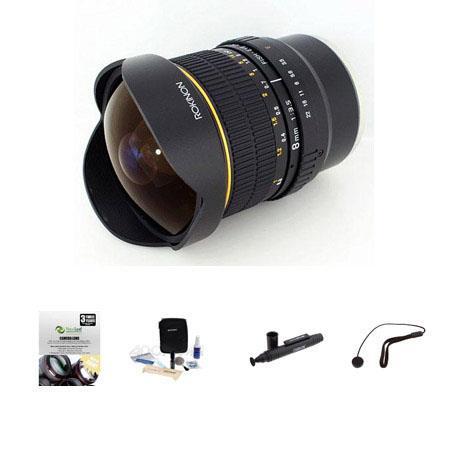 Rokinon f Fisheye CS Lens Sony E Mount NEX VG Bundle New Leaf Year Drops Spills Warranty Lenspen Len 24 - 149