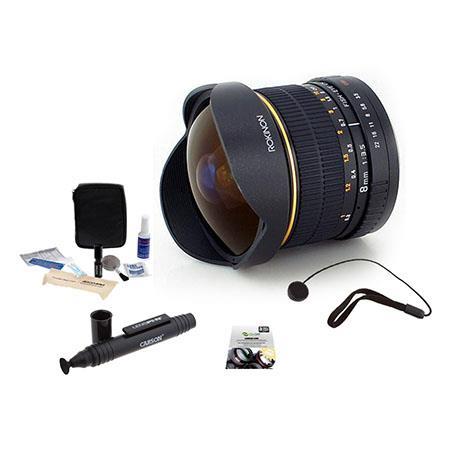 Rokinon f Aspherical Fisheye Lens Nikon DSLR Cameras Bundle New Leaf Year Drops Spills Warranty Lens 53 - 613