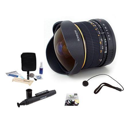 Rokinon Ultra Wide Angle f Fisheye Lens PentaK Mount Bundle New Leaf Year Drops Spills Warranty Lens 290 - 622