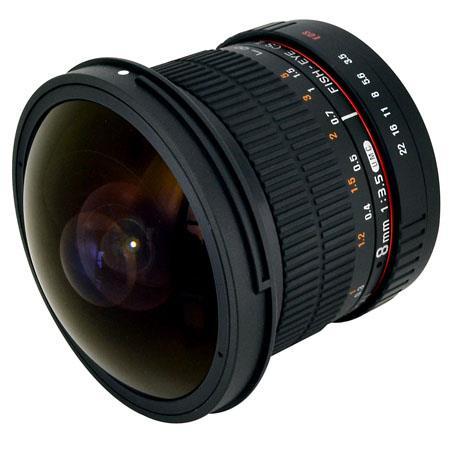 Rokinon f HD Fisheye Lens Removable Hood Canon EF 125 - 437