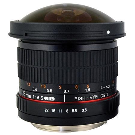 Rokinon f HD Fisheye Lens Removable Hood Sony 73 - 28