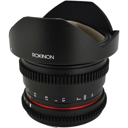Rokinon t Fisheye Cine Lens Canon EF Removble Hood 233 - 477