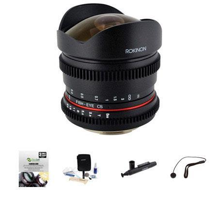 Rokinon t Fisheye Cine Lens Canon EF Removble Hood Bundle New Leaf Year Drops Spills Warranty Lenspe 233 - 477