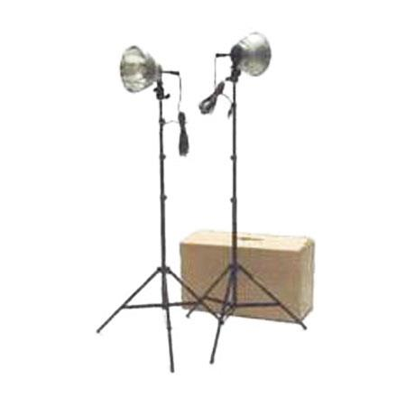 RPS Studio Watt Two Light Kit Diameter Aluminum Reflectors and Umbrella Holder Feet Light Stand Stor 97 - 435
