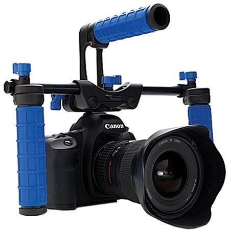Redrock Low Down Deluxe nano rig shooting at low angle and holding camera stable at eye level 68 - 75