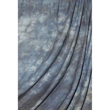 Savage Accent SeriesDyed Crushed Muslin Background Style Blue Winter Color Medium Blue Swirls 89 - 304