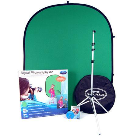 Savage Digital Photography Kit Chroma Key Background Stand Backgrounds on DVD Trial Version Photosho 246 - 767