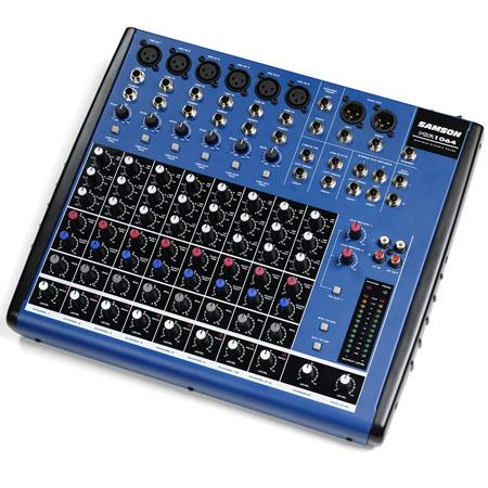 Samson MDR Channel Audio Mixer Hz to kHz Frequency Response 220 - 563