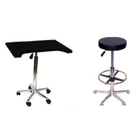 Savage Complete Posing Kit Pneumatic Posing Stool Foot Rest Pneumatic Posing Table 119 - 155