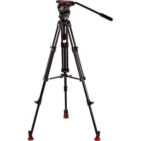 Sachtler System FSB MD FSB Fluid Head Aluminum Tripod Legs ENG D Set Mid Level Spreader Padded Bag D 419 - 556