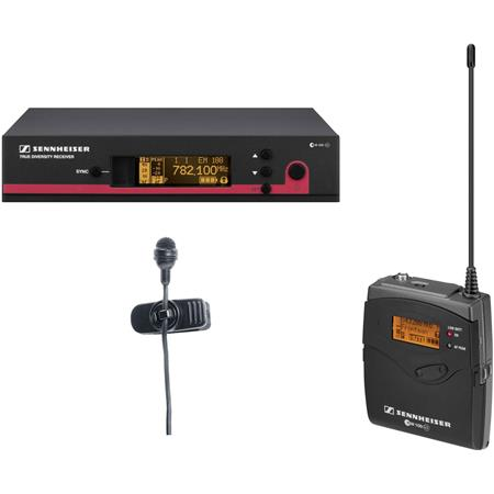Sennheiser EW Wireless Bodypack Microphone System ME Clip on Mic Band A Frequency Range MHZ 52 - 718