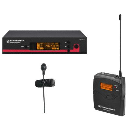 Sennheiser EW Wireless Bodypack Microphone System ME Clip on Mic Band A Frequency Range MHZ 323 - 165