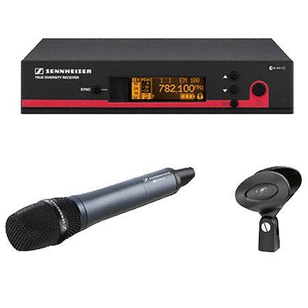 Sennheiser EW Wireless Handheld Microphone System EM Receiver Frequency B Range MHZ 34 - 749