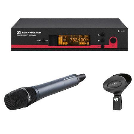 Sennheiser EW Wireless Handheld Microphone System EM Receiver Frequency A Range MHZ 323 - 165