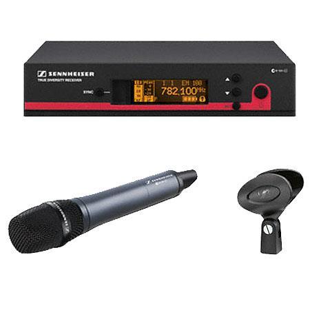 Sennheiser EW Wireless Handheld Microphone System EM Receiver Frequency b Range MHZ 104 - 251