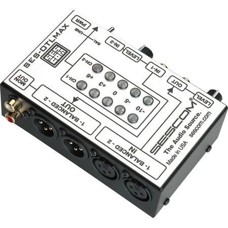 Sescom SES OTLMAX RCA to XLR Pro Match Audio Level Converter VU Level Controls Hz kHz Frequency Resp 92 - 215