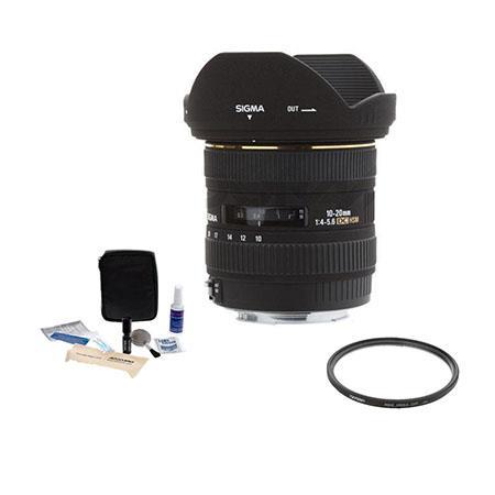 Sigma f EX DC HSM AF Lens Kit USA Warranty Canon EOS Digital SLR Cameras Tiffen UV Wide Angle Filter 351 - 490