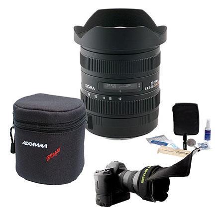 Sigma f DG HSM Autofocus Super Wide Angle Zoom Lens Nikon AF Cameras USA Warranty Bundle Slinger Sof 60 - 488