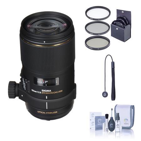 Sigma f EX DG OS HSM APO Macro Lens Kit For Canon EOS Cameras Tiffen Photo Essentials Filter Kit Len 72 - 305