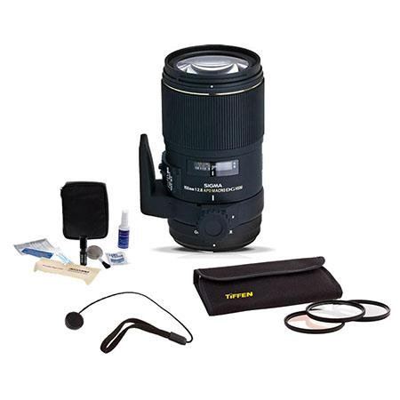 Sigma f EX DG OS HSM APO AF Telephoto Macro Lens Kit Nikon AF Cameras USA Warranty Tiffen Photo Esse 118 - 788