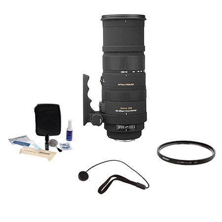 Sigma f DG APO OS Optical Stabilizer HSM AF Lens Kit Nikon AF Cameras Tiffen UV Filter Lens Cap Leas 118 - 629