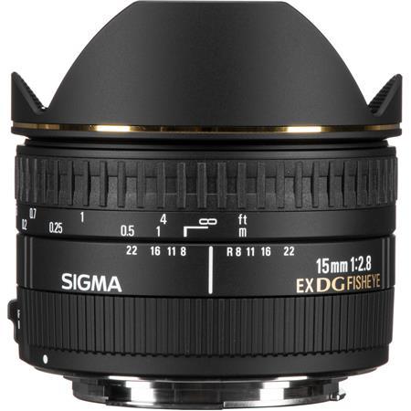 Sigma f EX DG AutoFocus Diagonal Fish Eye Lens Canon EOS Cameras USA Warranty 50 - 204