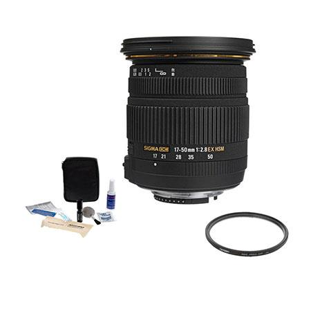 Sigma f EX DC OS HSM Auto Focus Lens Kit for Sigma Digital SLR Cameras Tiffen UV Wide Angle Filter P 263 - 408