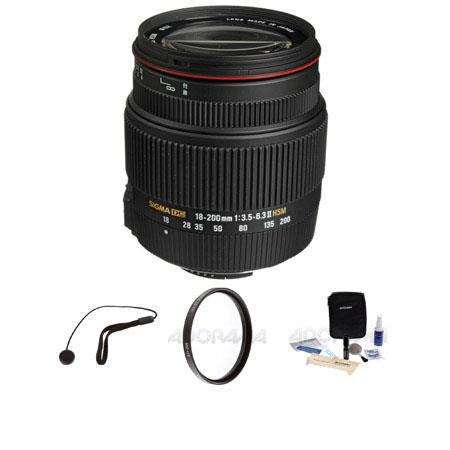 Sigma f DC OS HSM Lens Nikon Cameras USA Bundle Pro Optic MC UV Filter Lens Cap Leash Professional L 116 - 252