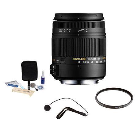 Sigma f DC Macro OS HSM Zoom Lens Canon EOS Digital SLR Cameras USA Warranty Bundle Pro Optic Pro Di 237 - 448